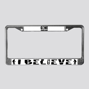 Gone sqautchin License Plate Frame
