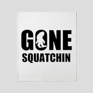 Gone sqautchin Throw Blanket