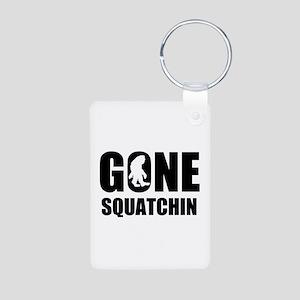 Gone sqautchin Aluminum Photo Keychain