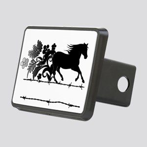 Horse Barbwire Girly Rectangular Hitch Cover