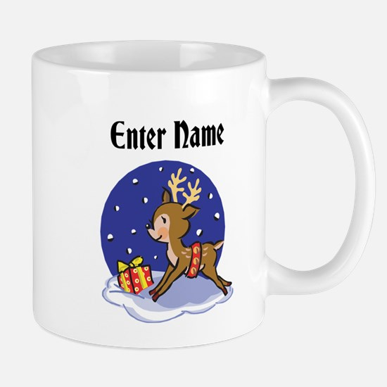 Personalized Christmas Reindeer Mug