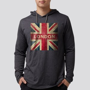 SquareUnionJack1 Mens Hooded Shirt