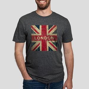 SquareUnionJack1 Mens Tri-blend T-Shirt