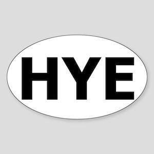 HYE Oval Sticker
