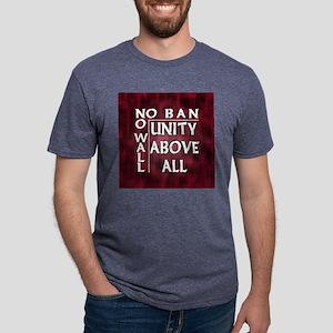 No Ban No Wall w Border Mens Tri-blend T-Shirt