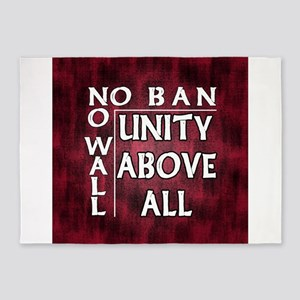 No Ban No Wall w Border 5'x7'Area Rug