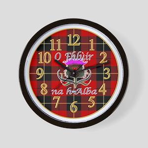 Flower of Scotland Gaelic Thistle Wall Clock