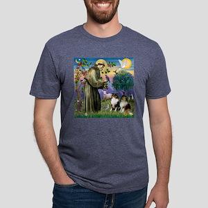 TILE-StFran-Sheltie-Tri1and Mens Tri-blend T-Shirt