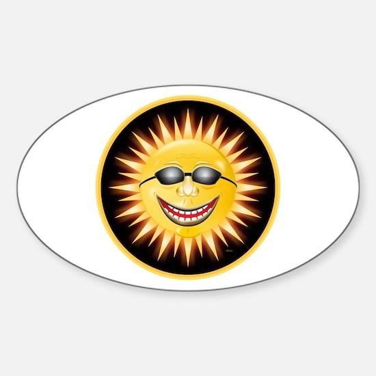 Smiling Sunshine Sticker (Oval)