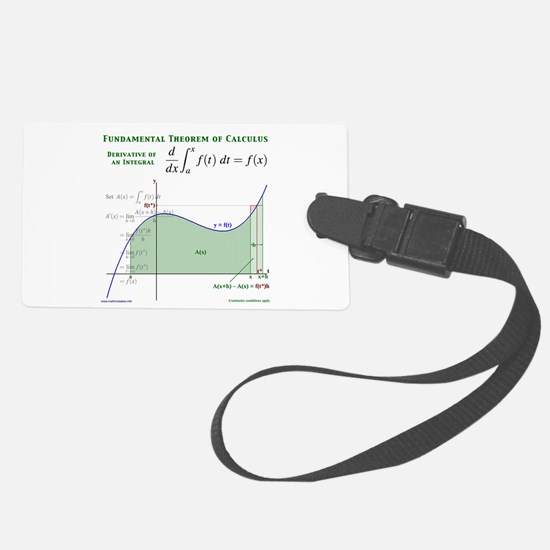 Fundamental Theorem of Calculus Luggage Tag