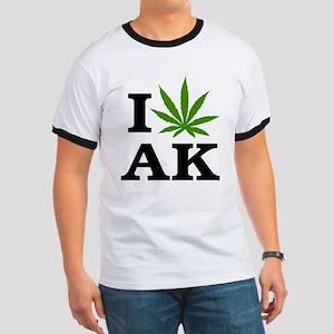 I Love Cannabis Alaska Ringer T