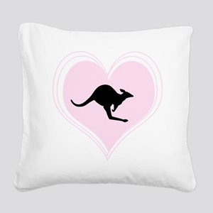 Love Roos Square Canvas Pillow