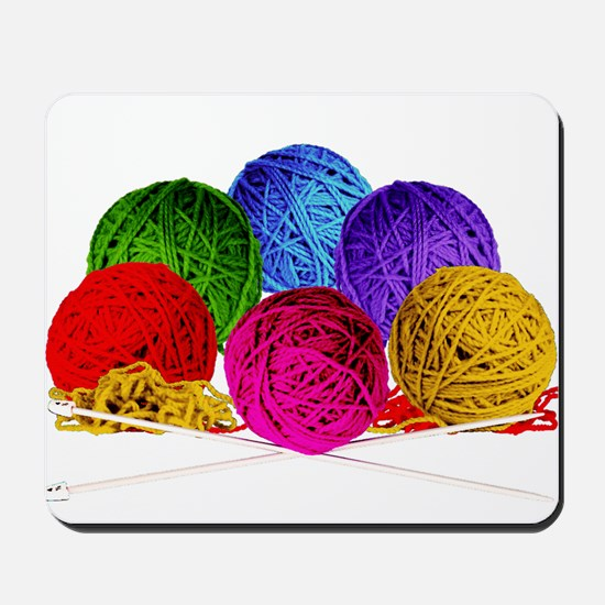 Great Balls of Bright Yarn! Mousepad