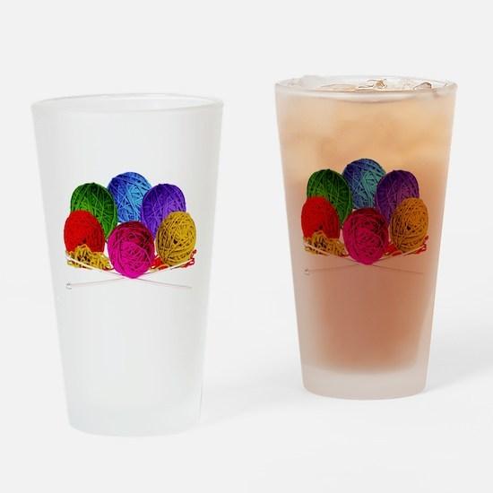 Great Balls of Bright Yarn! Drinking Glass