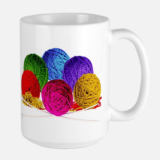 Great Balls of Bright Yarn! Large Mug