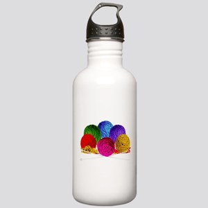 Great Balls of Bright Yarn! Stainless Water Bottle