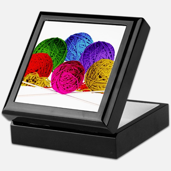 Great Balls of Bright Yarn! Keepsake Box