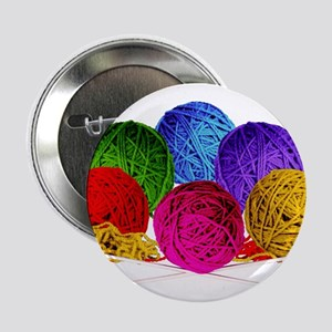 "Great Balls of Bright Yarn! 2.25"" Button"