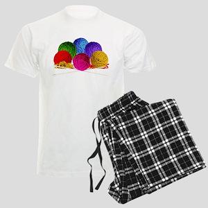 Great Balls of Bright Yarn! Men's Light Pajamas