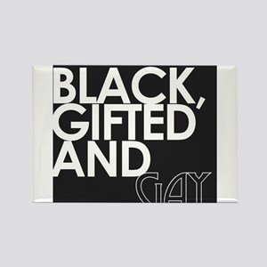 Black, Gifted & Gay Rectangle Magnet