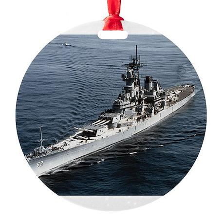 BB 63 Missouri Round Ornament