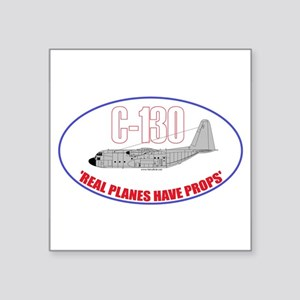 Real Planes Have Props Sticker (3.5x5.5 inch Oval)