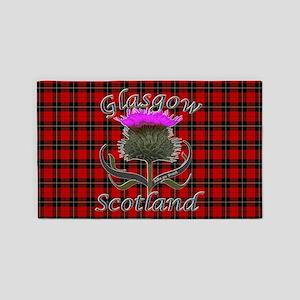 Glasgow Scotland Thistle 3'x5' Area Rug