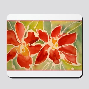 Red orchids! Beautiful art! Mousepad