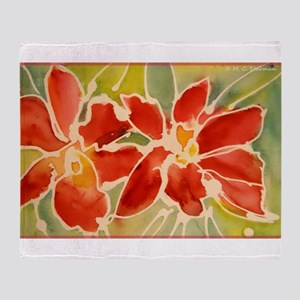Red orchids! Beautiful art! Throw Blanket