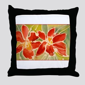 Red orchids! Beautiful art! Throw Pillow