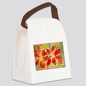 Red orchids! Beautiful art! Canvas Lunch Bag