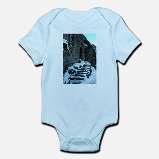 Icy Steps at Conwy Castle, Wales Infant Bodysuit