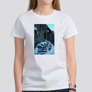 Icy Steps at Conwy Castle, Wales Women's T-Shirt