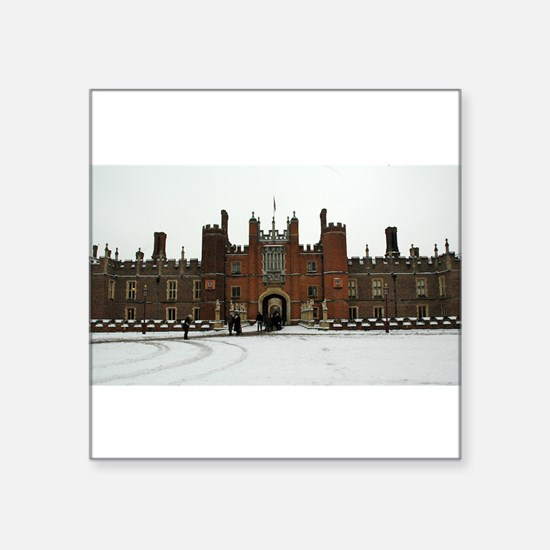 """Hampton Court Palace in the Snow Square Sticker 3"""""""