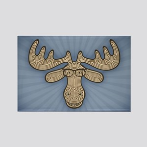 Mocha Moose Rectangle Magnet