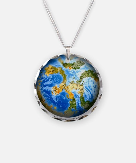 one people . one planet . one home Necklace