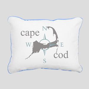 Cape Cod Compass Rectangular Canvas Pillow