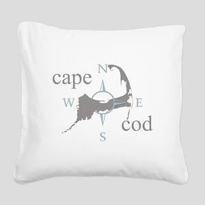 Cape Cod Compass Square Canvas Pillow