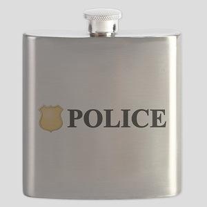 Police B W Flask