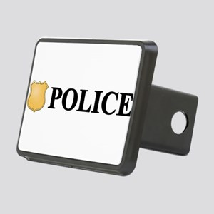 Police B W Rectangular Hitch Cover