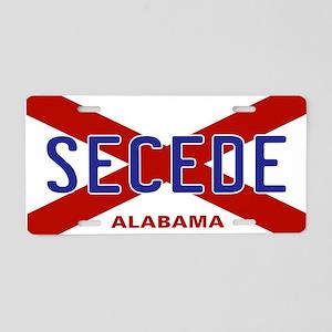 Secede - ALABAMA Aluminum License Plate