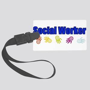 Social Work B Large Luggage Tag