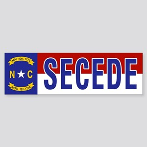 Secede - NORTH CAROLINA Sticker (Bumper)