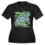 Space Women's Plus Size V-Neck Dark T-Shirt