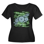 Space Women's Plus Size Scoop Neck Dark T-Shirt