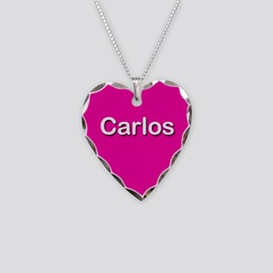 Carlos Pink Heart Necklace Charm