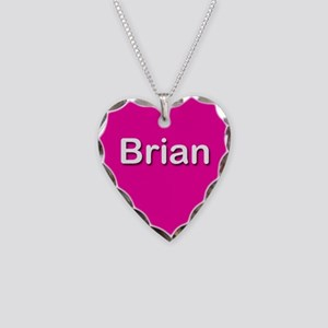 Brian Pink Heart Necklace Charm