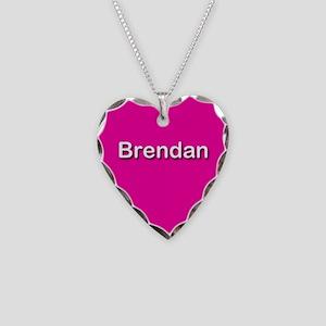 Brendan Pink Heart Necklace Charm