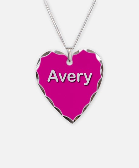 Avery Pink Heart Necklace Charm