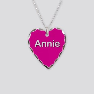 Annie Pink Heart Necklace Charm